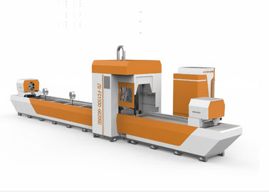 China Power Bright Tailless Metal Tube Laser Cutting Machine , Round Square CNC Tube Cutter distributor